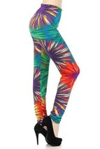 Yelete Colorful Firework Print Legging (Medium/large) [Apparel] - $15.83