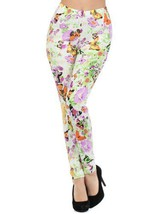 Multi Floral Print Leggings (one size, Fashion Fuji) [Apparel] - $15.83