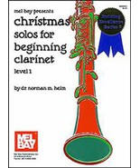 Christmas Solos For Beginning Clarinet/Level 1/Songbook - $10.99