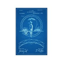 "One Wheeled Velocipede Patent - Blueprint Style - Art Print - 18"" tall x 12"" wid - $16.00"