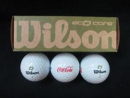 Coca-Cola Golf Balls Wilson Eco-Core Set of 3 - BRAND NEW - $7.67