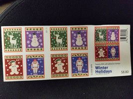 20 Stamps 44 cent Winter Holiday 2008 USPS self adhesive - $11.29
