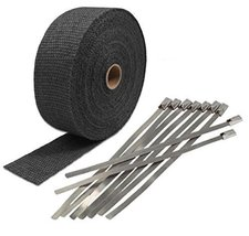 "BMW 1"" x 50' Motorcycle Protection Header Exhaust Heat Wrap black lava - $14.80"