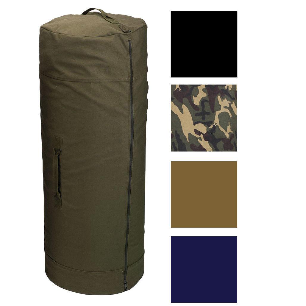 Side Zipper Canvas Duffle Bag 50590d7dbbe