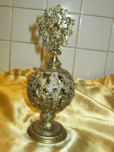 Gorgeous Vintage Filigree Perfume Bottle! - $55.74
