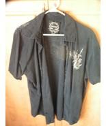 Modern Culture Button Down Black Dagger Men's XL Cotton Shirt - $9.85