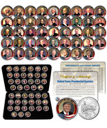 ALL 45 United States PRESIDENTS Full Coin Set Colorized DC Quarters w/ B... - $118.75