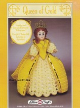 Queen of Gold, Fibre Craft Crochet Fashion Doll Clothes Pattern Booklet FCM244  - $3.95