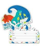 Roar Dinosaur - Shaped Fill-in Invitations - Dino Mite T-Rex Baby Shower... - $14.24