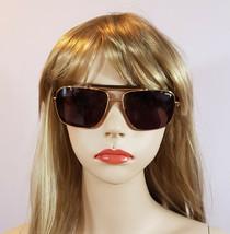 POLICE Sunglasses Gold Black Square Aviator Frame Unisex S8645 Men & Women - $162.10