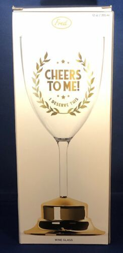 Cheers to Me Wine Glass - $12.86