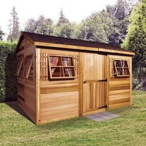 Woman Cave She Shed Lady Cabana Garden Shed Western Red Cedar Constructi... - $6,226.68