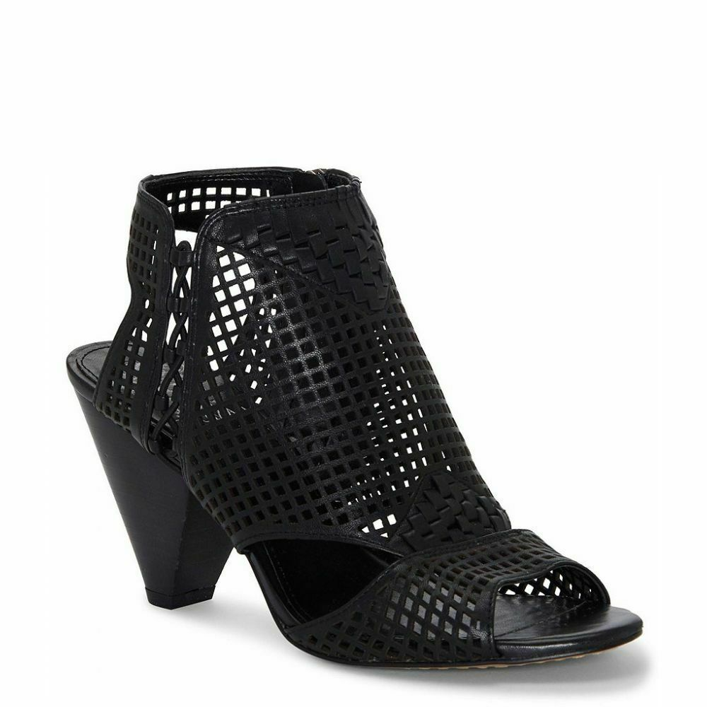 Vince Camuto Emmbell Leather Cut Out Cage Sandals, Multip Sizes Black VC-EMMBELL