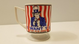 I WANT YOU For US ARMY Vintage Recruiting Pedestal Uncle Sam Mann Made Mug - $9.89