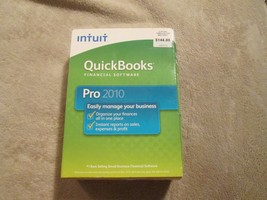 Intuit Quickbooks Pro 2010 For Windows Financial Software With Box - $109.94