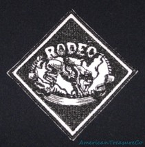 Embroidered Retro Vintage Black & White Cowboy ... - $7.84