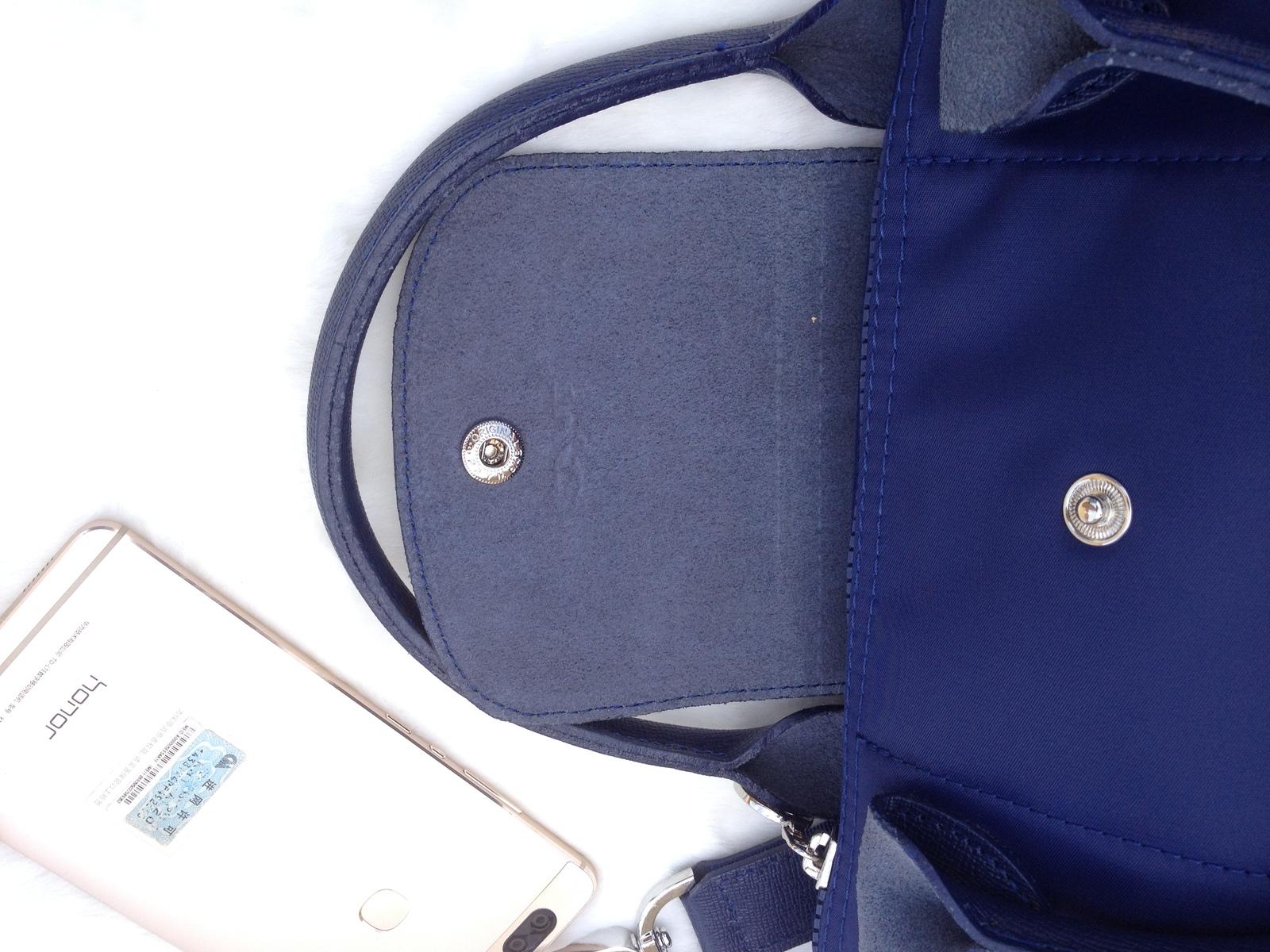 Longchamp Le Pliage Medium Navy Blue Handbag Neo Shoulder Strap 1512578556