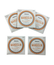 D'Addario Mandolin Strings 5 Pack Monel Medium Plus 11-41 Loop End - $56.40