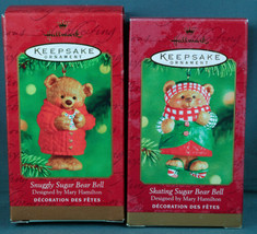 Hallmark Ornaments SKATING SUGAR BEAR BELL & SNUGGLY SUGAR BEAR BELL 200... - $14.99