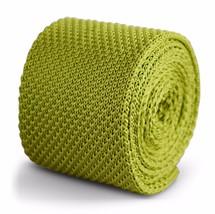 lavorata a maglia Tinta Unita Verde lime CRAVATTA da uomo Frederick Thomas