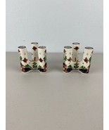 Afina Handpainted Candle Holders Set of Two Holland - $98.99