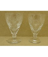 Pair of Etched Crystal Golblets (2-1/2 x 5 in.) - $31.99