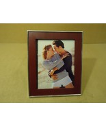 Designer Picture Frame Cherry/Chrome Fits 8in x... - $18.29