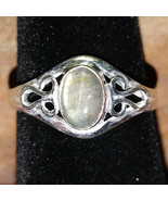 Labradorite Silver handmade gemstone ring size 8 #021 - $30.00