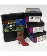 Just the Right 4 Shoes Raine Forest Endangered Species-Bear-Panther-Owl-... - $249.99