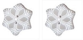 Tiny Snowflake 4442t handmade clay buttons JABC Just Another Button Co - $2.80