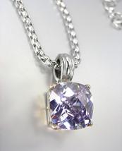 Designer Style Silver Gold BALINESE Lavender Amethyst CZ Crystal Pendant Necklac - $29.99