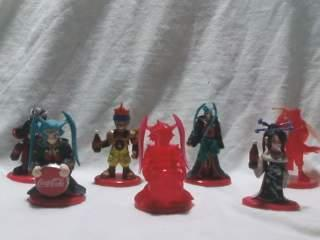 Final Fantasy 10 X Coca Cola Figures Qty (7) * Anime