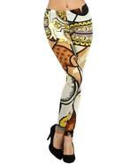 Fashion Mic Stella Elyse Funky Print Cotton Leggings (Regular (S/M), renaissa... - $22.76