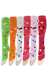 Fashion Mic Women's Assorted 6 Pairs Knee High Socks (9-11, Circles Solid) - $11.87