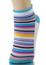 Fashion Mic Womens Low Cut Design Spandex Socks 6 Pairs (9-11, linear) [Apparel] - $9.89
