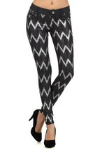 Fashion Mic Womens Jeggings Skinny Pants Multiple Styles (S/M, zigzag) [Apparel] - $24.74