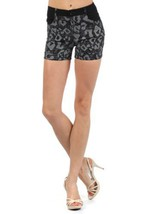 Fashion Mic Womens Summer Shorts (medium, black leopard safari) [Apparel] - $17.81