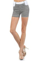 Fashion Mic Womens Summer Shorts (medium, houndstooth) [Apparel] - $17.81