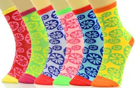 Crew Cut Novelty Socks 6 Pairs Assorted Colors Size 9-11 (9-11, circle flowers) - $11.87