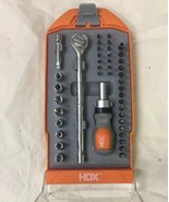 HDX 42 PC RATCHET, SCREWDRIVER & SOCKET SET - 140940 Excellent Condition - $18.71