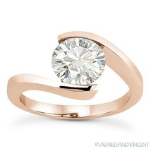 Forever ONE D-E-F Round Cut Moissanite 14k Rose Gold Solitaire Engagement Ring - €620,31 EUR - €3.210,57 EUR