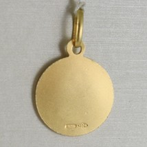 Pendant Medal Yellow Gold 750 18K, Saint Christopher, 13 MM, Made IN Italy image 2
