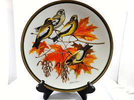 Vintage National Audubon Society Woodland Birds Collection Porcelain Pla... - $29.65