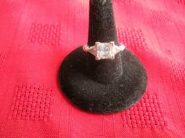 Diamonique 925 DQ CZ Sterling Silver 3 Stone Cubic Zirconia Ring - Size ... - $24.09