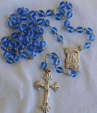 Bluish galss rosary