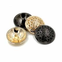 5Pcs High-grade Gold & Black Vintage Metal Buttons For Sewing Coat Suit ... - $19.79