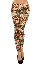 Fashion Mic Womens Artsy Pattern Printed Polyester Leggings (one size, f... - $9.89
