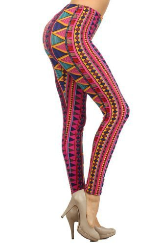 Primary image for Fashion Mic Womens Colorful Polyester/spandex Leggings (free size, pink tribal)