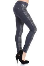 Fashion MIC 2 Tone with Houndstooth Plaid Fashion Pants (medium, black) - $27.71