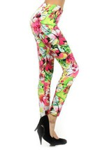 Multi Floral Print Leggings (one size, Water Color) [Apparel] - $15.83